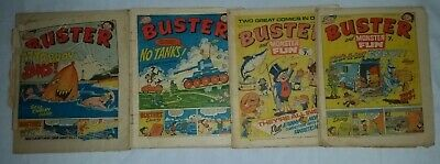 UK comics BUSTER 4 x vintage 1976 issues large format see all details