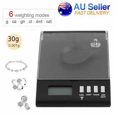High Precision Digital Pocket Scales Jewellery Electronic Milligram 0.001g/30g