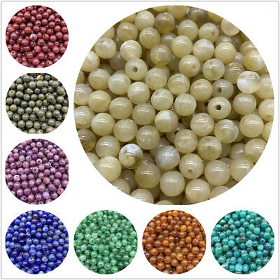 6mm 8mm 10mm Acrylic Spacer Beads Round Loose Cat's Eye Beads For Jewelry Making
