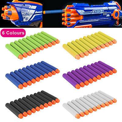 10 Pcs NERF Gun Refill Soft Darts Bullets Toy Gun N -Strike Round Head Blast