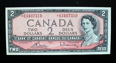 1954 Bank of Canada $2 Dollars Replacement Note *A/G 3407310  BC-38cA (( UNC ))