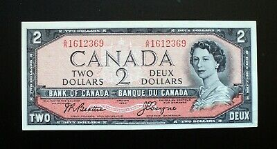 1954 Bank of Canada $2 Dollars Modified **Beattie & Coyne** A/R 1612369  BC-38a