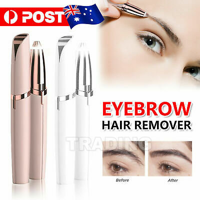 Electric Brow Remover Razor Face Eyebrow Trimmer Facial Hair Removal LED Light W