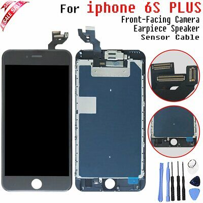 LCD Touch screen For Apple iPhone 6S Plus Black Full Digitizer Camera + Speaker