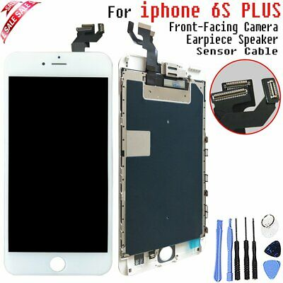 For iPhone 6S Plus White LCD Touch Screen Replacement Digitizer Camera+Speaker