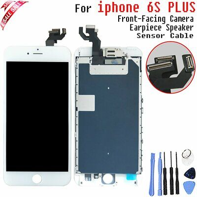 LCD Touch screen For Apple iPhone 6S Plus White Full Digitizer Camera + Speaker