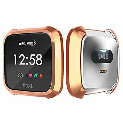 TPU Full Cover Protective Bumper Shell Case For Fitbit Versa Lite Watch Rose