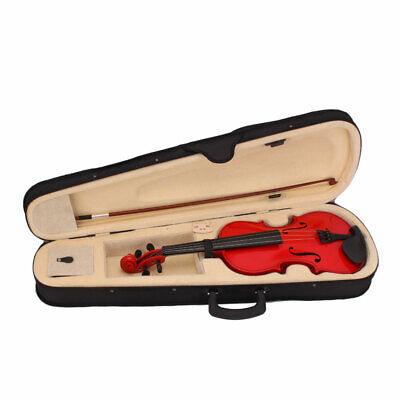 4/4 Full Size Acoustic Violin Fiddle with Case Bow Rosin for Student Adult Red