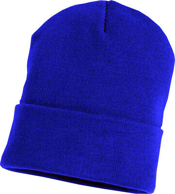 Bronx Plain Football Fans Beanie Winter Wear Soft Woolen Soccer Hat Royal