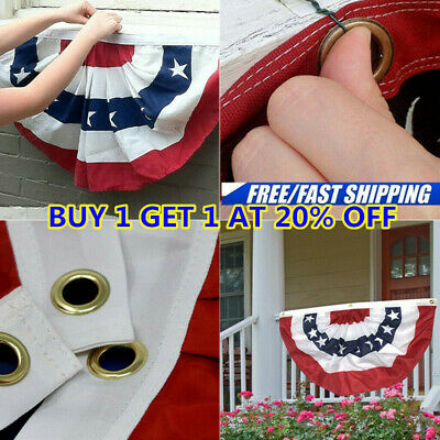 bc0217a7aa USA PATRIOTIC BUNTING 2 Pack Set 1.5 x 3 Pleated Mini Fans With ...