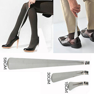 15cm 30cm 58cm Long Handle Shoehorn Stainless Steel Shoe Horn Lifter 3sizes
