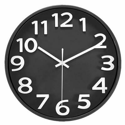Mixart Large Number Wall Clock Silent NonTicking 12 Inch Quality Quartz Battery