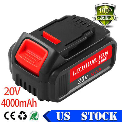 20v 4.0Ah Replacement for Dewalt Max Battery Lithium-ion DCB200 DCB204 DCB205