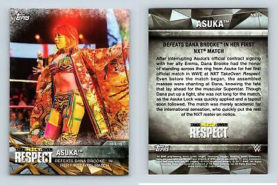 Asuka #NXT-5 WWE Womens Division NXT Matches & Moments 2017 Topps Card
