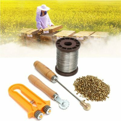 Eyelets Beekeeping Bee Frame Wire Cable Tensioner Crimper Frame Hive Embedders
