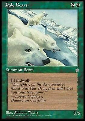 Pale Bears ~ Ice Age ~ Excellent/Moderately Played ~ Magic The Gathering MTG