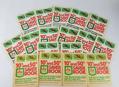 S & H GREEN STAMP 10's & 50's SAVER BOOK SPERRY AND HUTCHINSON VTG Coupons LOT!