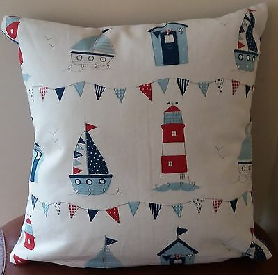 Beautiful Nautical, Beach hut,Boat, Seaside, sailing, Cushion Covers 16 inch