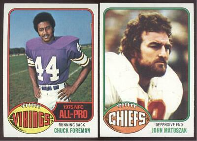 1976 Topps Football - You Pick Numbers #401 - #528 - Nmmt Or Better
