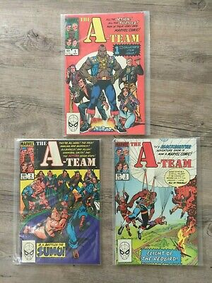 Marvel Comics The A-Team Issues 1-3 Complete Set