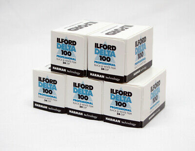 Ilford Delta 100 35mm 24 exp Exposure Pack of 5