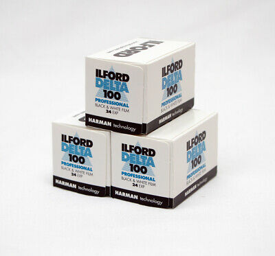 Ilford Delta 100 35mm 24 exp Exposure Pack of 3