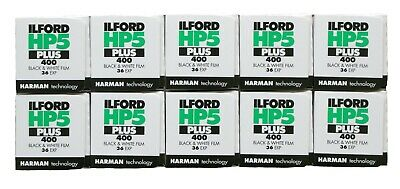 Ilford HP5 Plus 35mm 36 Exp B+W Film Pack of 10