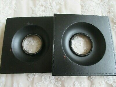 Pair of Antique Ebonised Wooden Miniature Frame + Casings for Picture - Painting