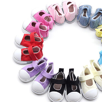 5cm Doll Shoes Canvas Mini Toy Shoes1/6  For Russian  Doll Sneacker QY