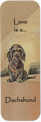 Wire Haired Dachshund Beautiful Dog Bookmark Same Image Both Sides Great Gift
