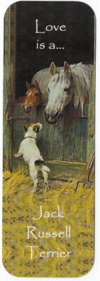 Jack Russell Terrier Beautiful Dog Bookmark Same Image Both Sides Great Gift
