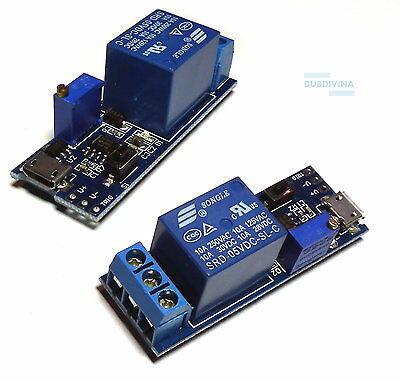 5V -30V Delay relay Timer control module Trigger delay switch Micro USB Power