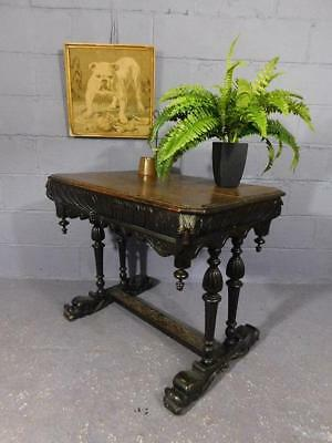A GOOD LATE 19th CENTURY ANTIQUE HEAVILY CARVED OAK CENTRE OR SIDE TABLE