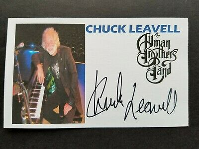 "CHUCK LEAVELL ""THE ALLMAN BROTHERS BAND"" Autographed 3x5 Index Card"