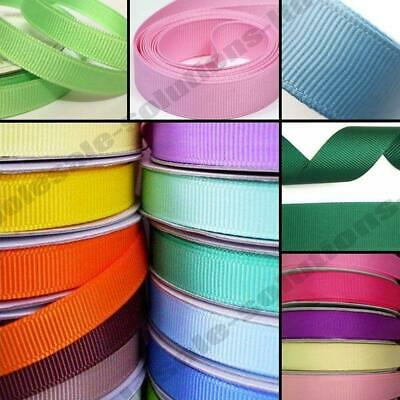 New 50m Quality Reels Grosgrain Ribbon Roll 50 Metres & Width 6,10,15, 25 & 38mm