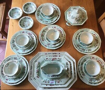 Adams MING JADE Duck Egg Blue 5 Piece Dinner Service For 6 Serving Dishes Etc