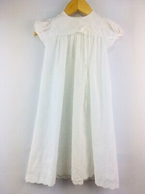 Vintage Alexis Embroidered Anglais Christening Baptism Gown Dress 9 Months