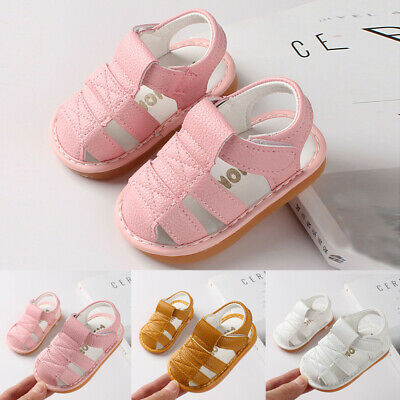 Newborn Baby Girls Boys Shoes Roman Shoes Sandals First Walkers Soft Sole Shoes