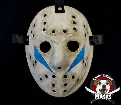 """Friday the 13th Part 5 (v) """"Film Accurate"""" Hand painted Jason Hockey Mask"""