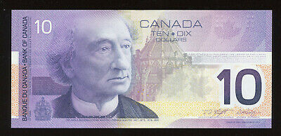 2001 Bank of Canada $10 2002 BC-63b Banknote S/N FEN3660738 SALE