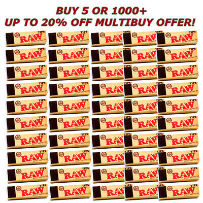 RAW TIPS Rolling Paper Smoking Chlorine Free Genuine Roach Roaches Book Filter