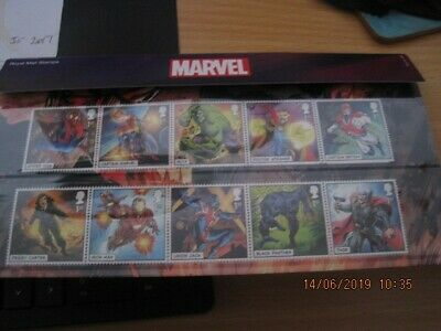 collectable GB 2019 MINT MARVEL PRESENTATION PACK 568 STAMPS SHEET PRESTIGE