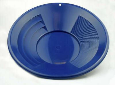 """14"""" Blue Plastic Gold Pan Mining Nugget Prospecting Dredging River Panning NEW!"""
