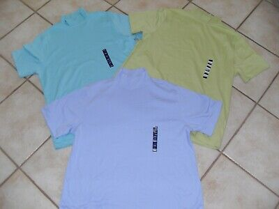 NWT'S Lot Of Womens LANDS' END Mock Neck, Short Sleeve Tops/Shirts Size LARGE