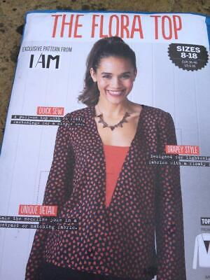 Simply Sewing Pattern The Flora Top Sizes 8-18 Drapey Style Uncut