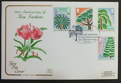 GB FDC 05/06/1990 Kew Gardens on Cotswold with 150th Anniversary SHS