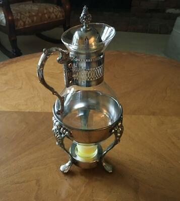 Vintage...Coffee Carafe....With Footed Warmer... Silver Plated Serving Piece....