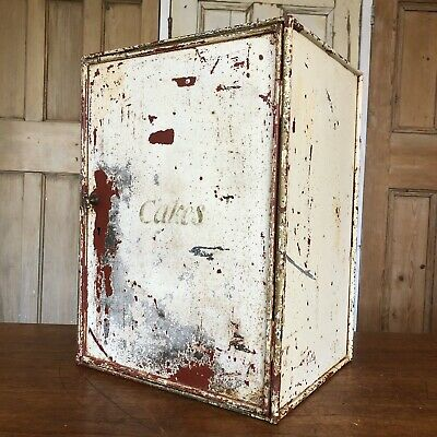 Vintage Metal Cabinet Marked Cakes Industrial Cupboard