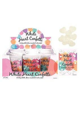 24 Packs White Heart Biodegradable Throwing Confetti Wedding Favour Decoration