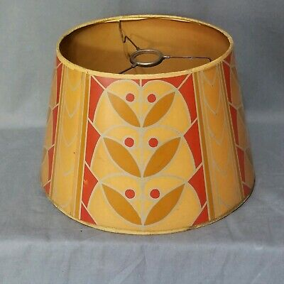 Vintage Antique Arts & Crafts Secessionist Pattern Paper Lamp Shade RARE